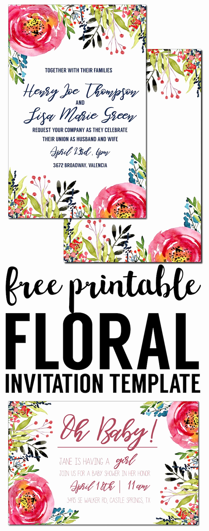 Free Online Invitation Templates Inspirational Floral Invitation Template Free Printable Paper Trail