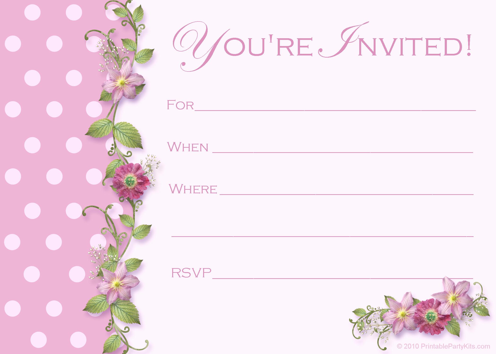 Free Online Invitation Templates Inspirational Free Sweet 16 Birthday Invitations – Free Printable