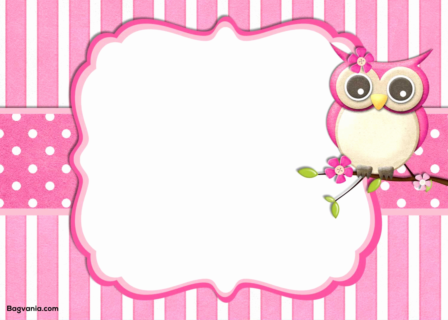 Free Owl Invitation Template Awesome Birthday Invitation Template – Free Printable – Bagvania