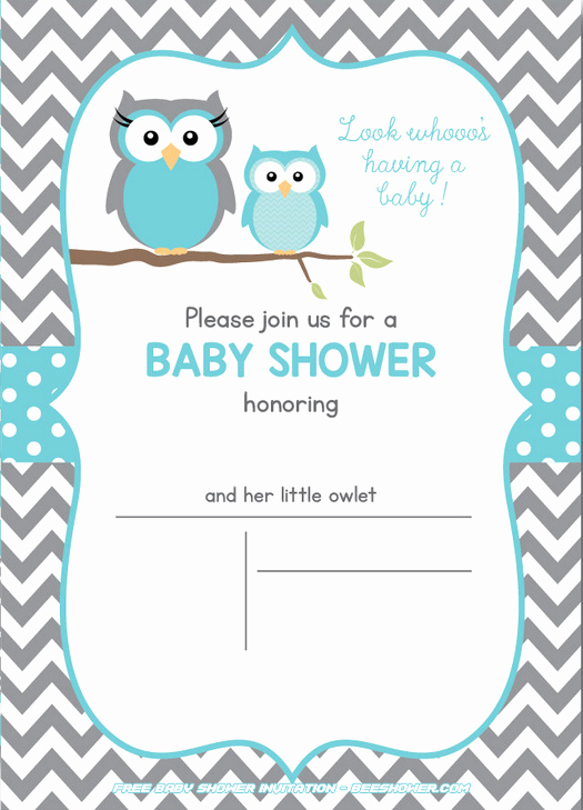 Free Owl Invitation Template Awesome Free Owl Baby Shower Invitations