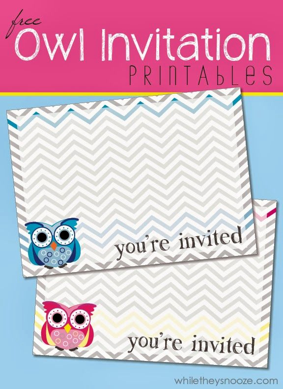 Free Owl Invitation Template Fresh 17 Best Ideas About Owl Printable On Pinterest