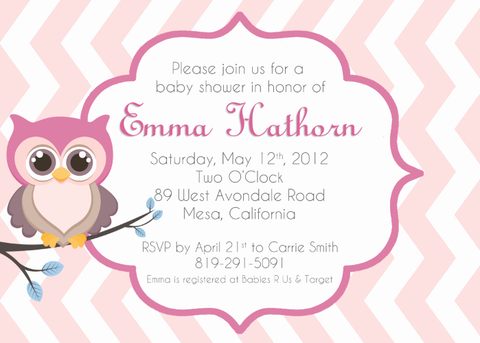 Free Owl Invitation Template Inspirational Baby Owl Invitations Clipart Clipart Suggest