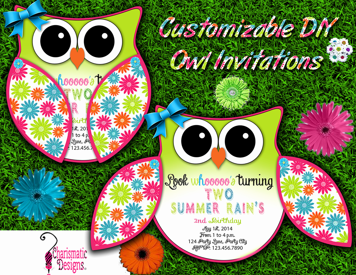 Free Owl Invitation Template Inspirational Free Diy Customizable Owl Invitation Printable Template On