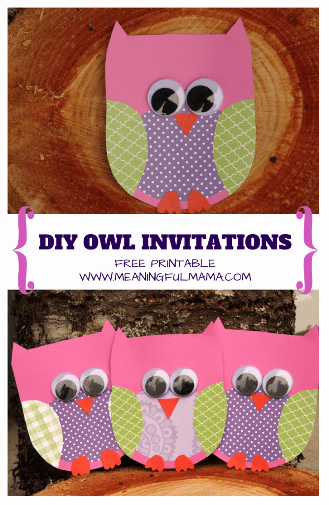 Free Owl Invitation Template Inspirational Owl Party Ideas
