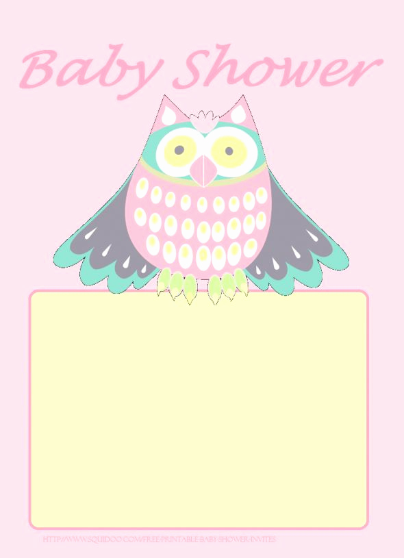 Free Owl Invitation Template New 11 Best Free Printable Baby Shower Invitations Images On