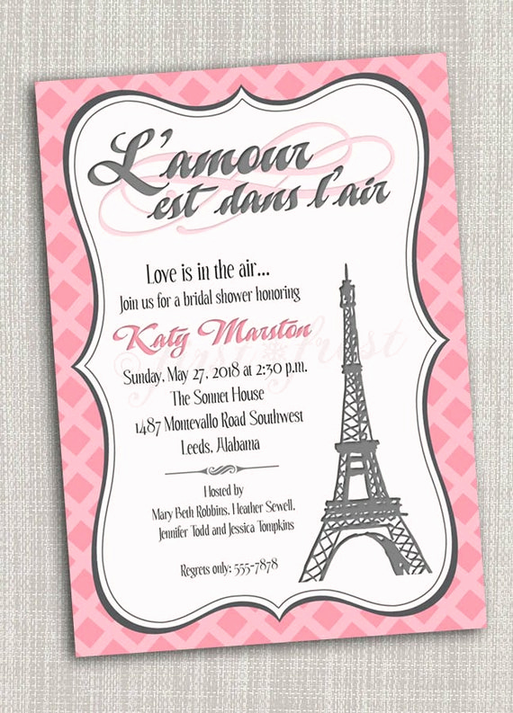 Free Paris themed Invitation Template Awesome French themed Eiffel tower Paris Party Invitation Card