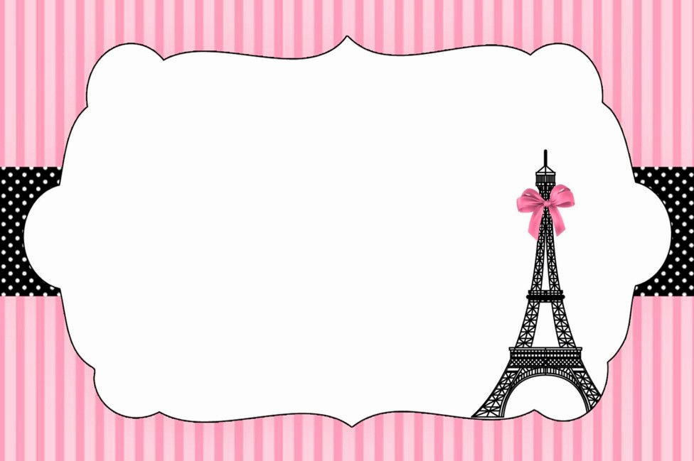 Free Paris themed Invitation Template Awesome Paris Birthday Party Invitation Templates