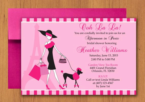 Free Paris themed Invitation Template Best Of Lady Paris Party Invitation Editable Template Microsoft