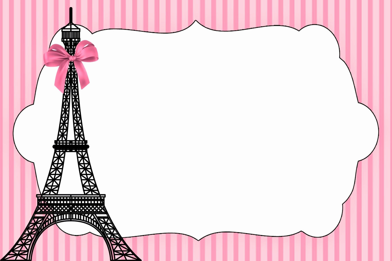 Free Paris themed Invitation Template New Paris Invitations On Pinterest