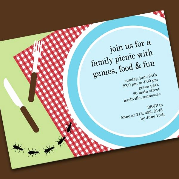 Free Picnic Invitation Template Awesome Picnic Invitations Templates