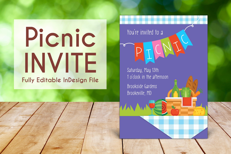 Free Picnic Invitation Template Beautiful Spring Outdoor Picnic Invite Invitation Templates