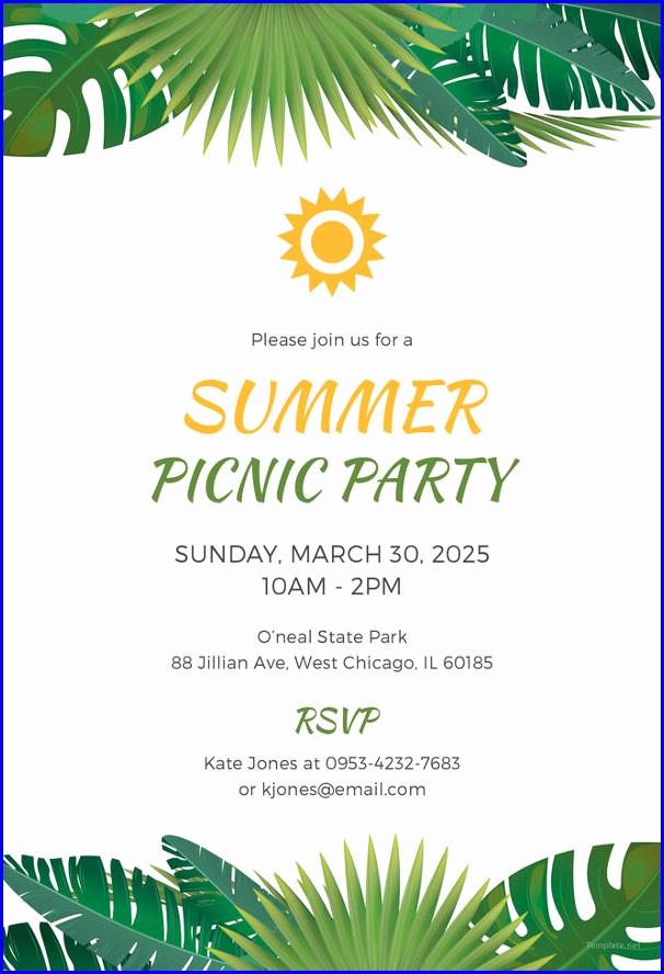 Free Picnic Invitation Template Fresh Free Printable Pany Picnic Invitation Template