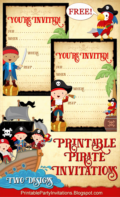 Free Pirate Invitation Template Awesome Free Printable Party Invitations Free Printable Pirate