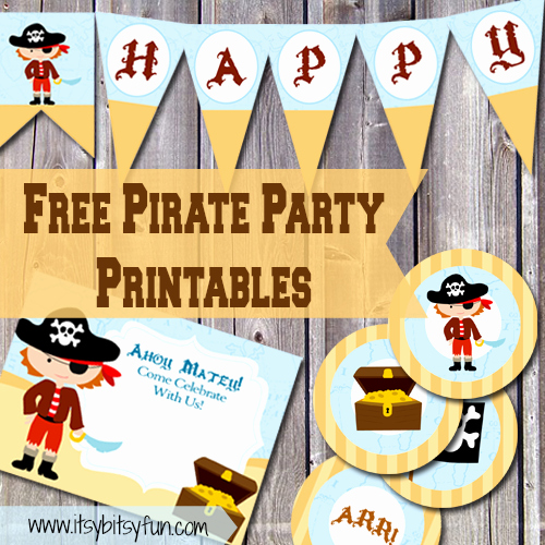 Free Pirate Invitation Template Awesome Free Printable Pirate Party Supplies