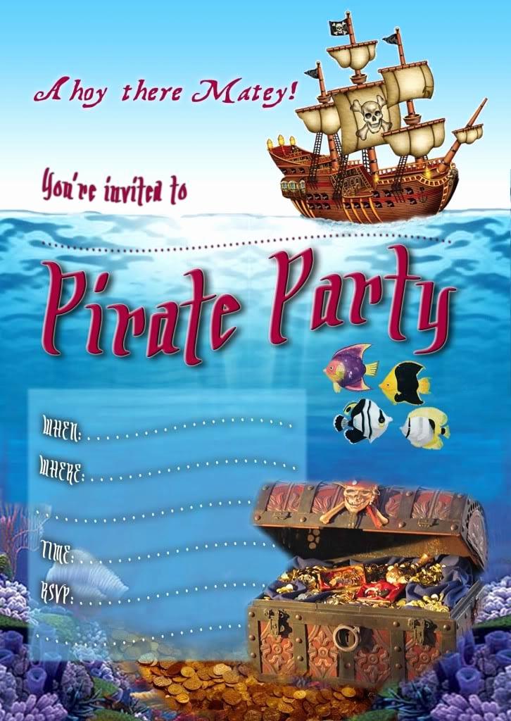 Free Pirate Invitation Template Beautiful Free Editable Pirate Invitation