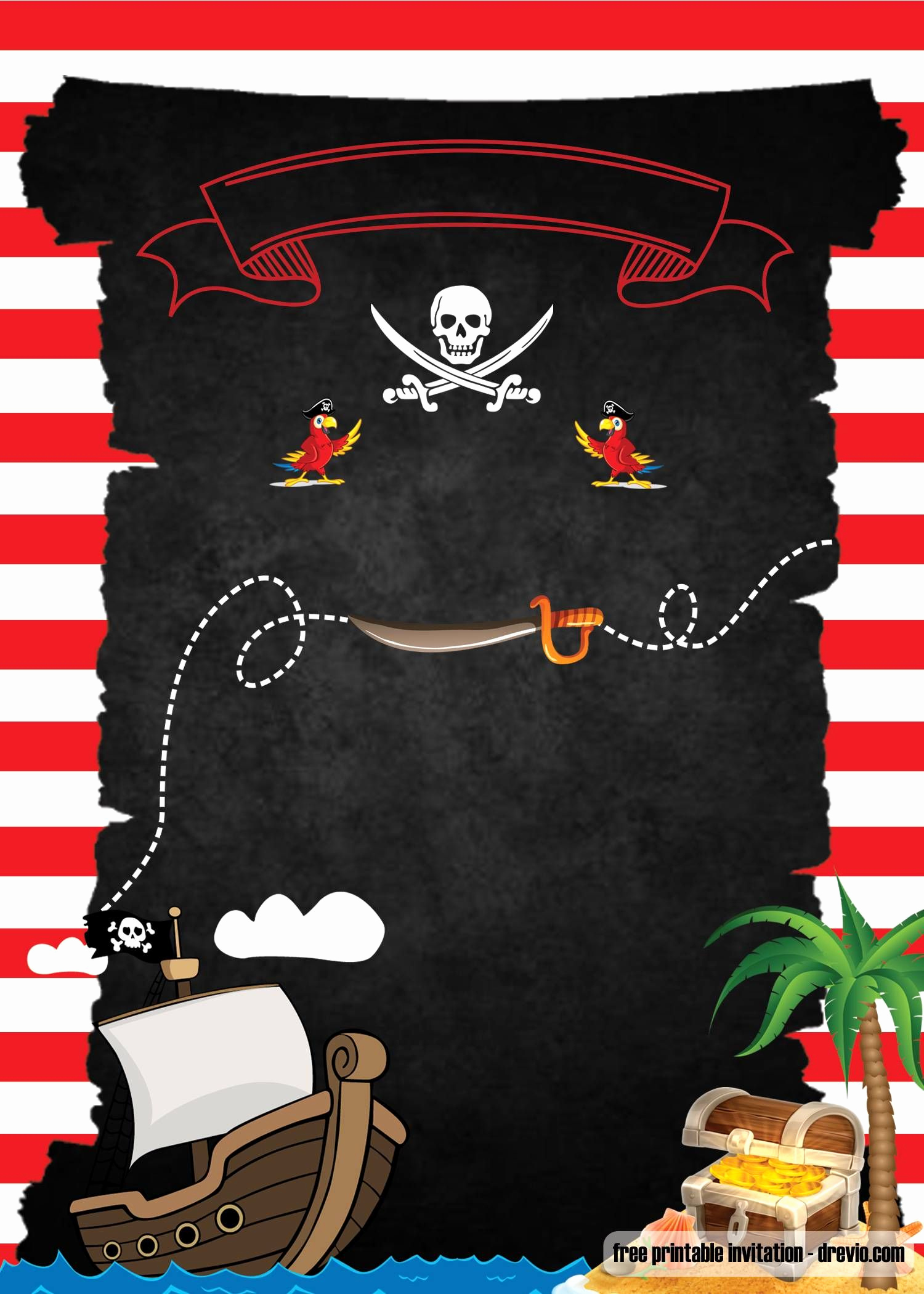 Free Pirate Invitation Template Fresh Free Printable Pirate Party Invitations