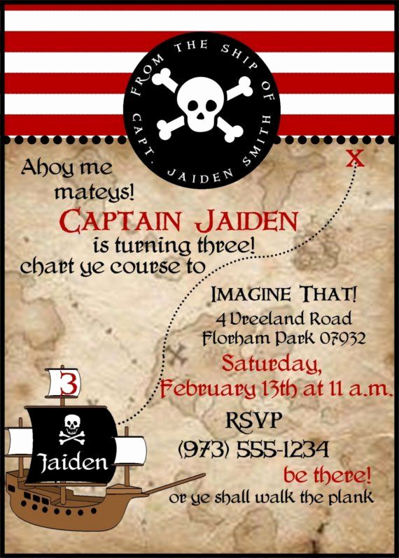 Free Pirate Invitation Template Inspirational 25 Best Ideas About Pirate Birthday Invitations On