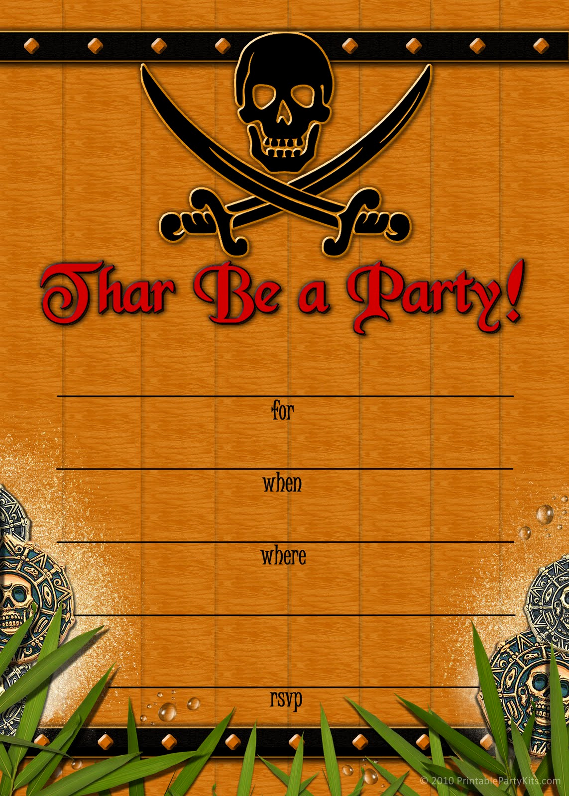 Free Pirate Invitation Template Inspirational Free Printable Party Invitations Skull and Crossbones