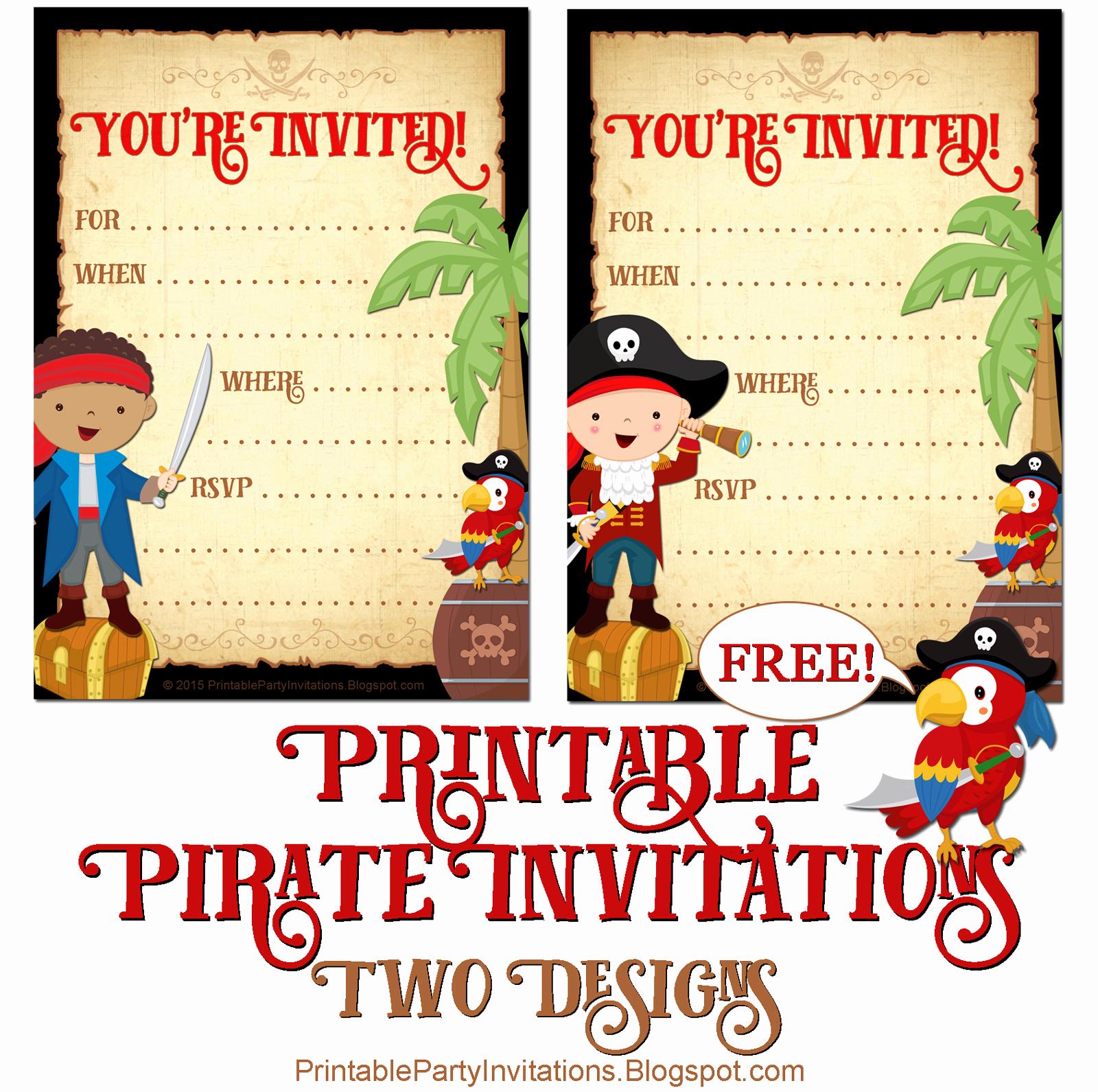 Free Pirate Invitation Template Inspirational Free Printable Pirate Invite Template