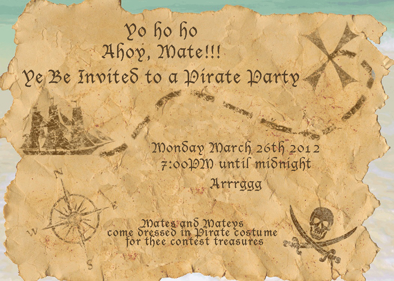 Free Pirate Invitation Template Lovely Best S Of Pirate Map Template Powerpoint Free
