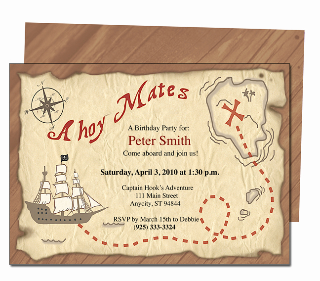 Free Pirate Invitation Template Lovely Free Printable Pirates Birthday Party Invitations