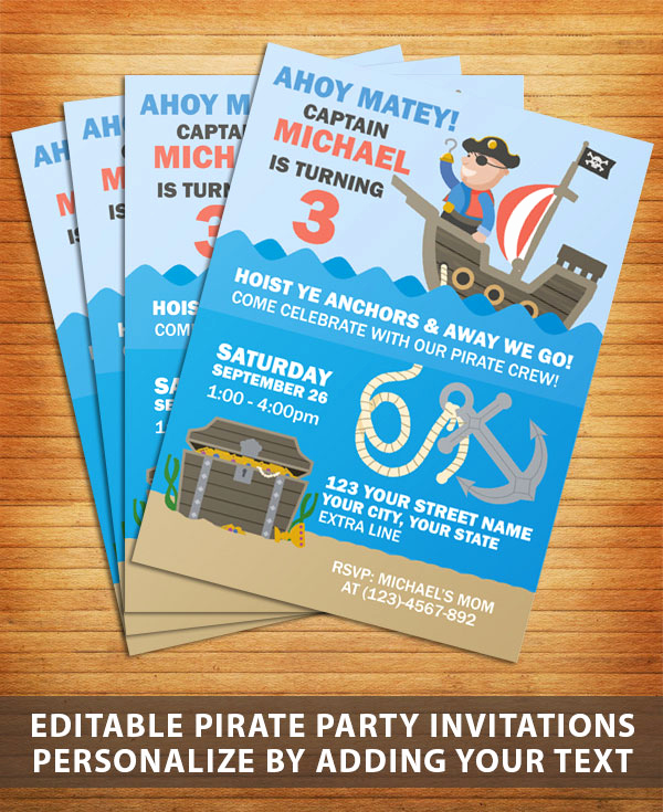 Free Pirate Invitation Template Unique Pirate Party Invitation Free Printable