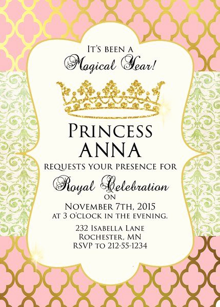 Free Princess Invitation Template Awesome Princess Birthday Party Invitation