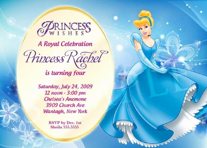 Free Princess Invitation Template Beautiful Cinderella Invitations Printable