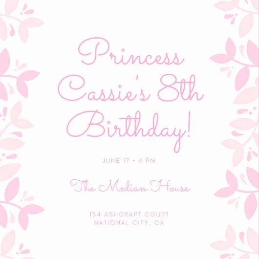 Free Princess Invitation Template Beautiful Customize 174 Princess Invitation Templates Online Canva