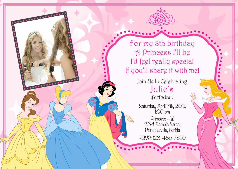 Free Princess Invitation Template Beautiful Princess Birthday Invitation Templates