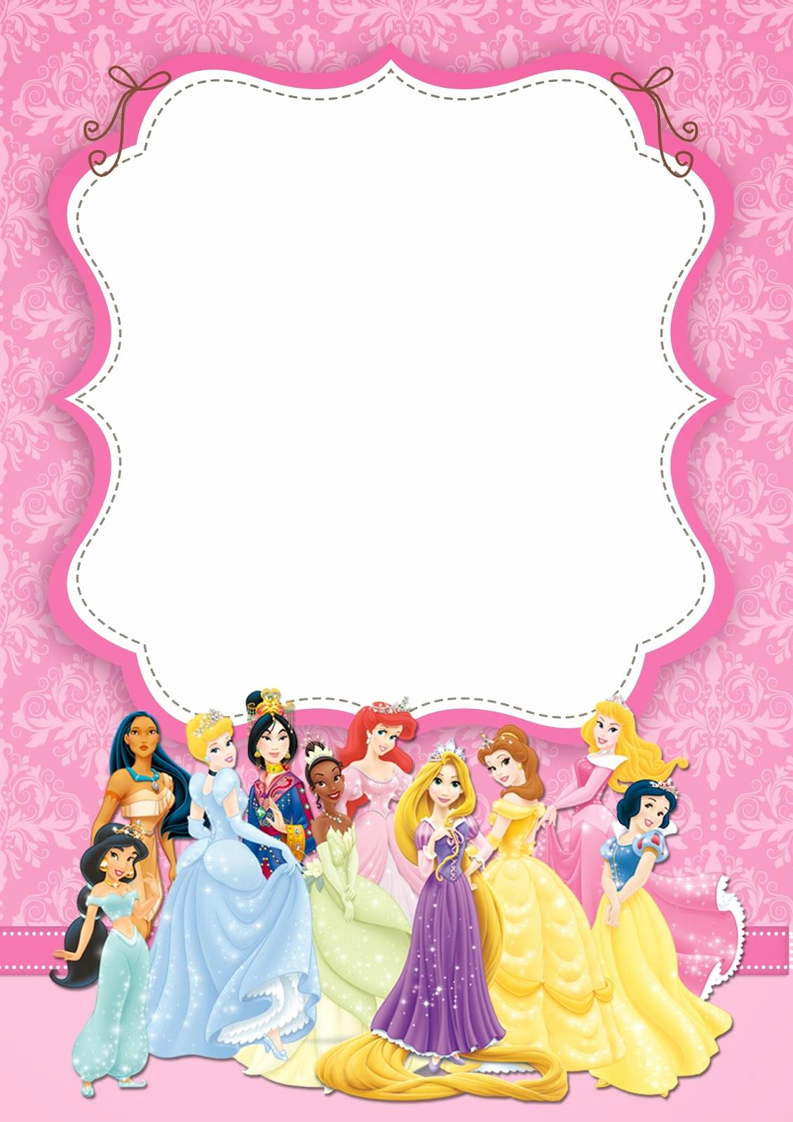 Free Princess Invitation Template Elegant Free Printable Disney Princess Ticket Invitation Template
