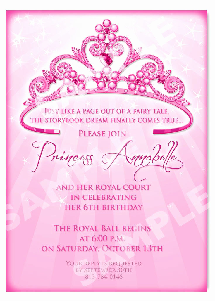 Free Princess Invitation Template Fresh Free Printable Princess Birthday Invitation Templates