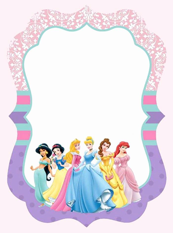Free Princess Invitation Template Inspirational Disney Princesses Invitation Template