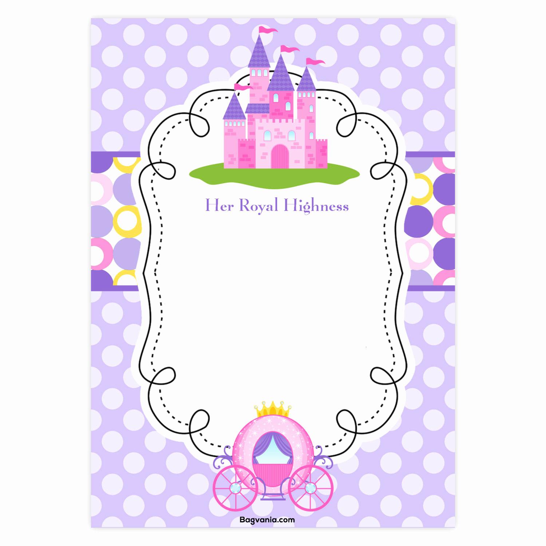 Free Princess Invitation Template New Free Princess Birthday Invitations – Free Printable