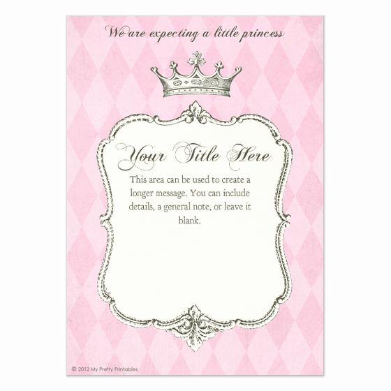 Free Princess Invitation Template New Royal Shower Princess Invitations & Cards On Pingg