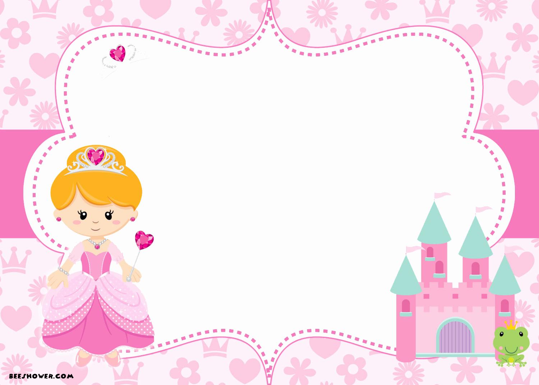 Free Princess Invitation Template Unique Free Printable Disney Princess Birthday Invitations