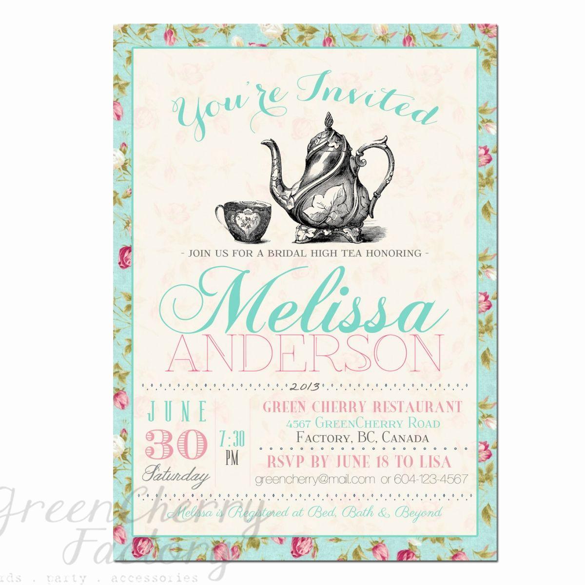 Free Printable Birthday Invitation Templates Awesome Tea Party Invitation Templates to Print