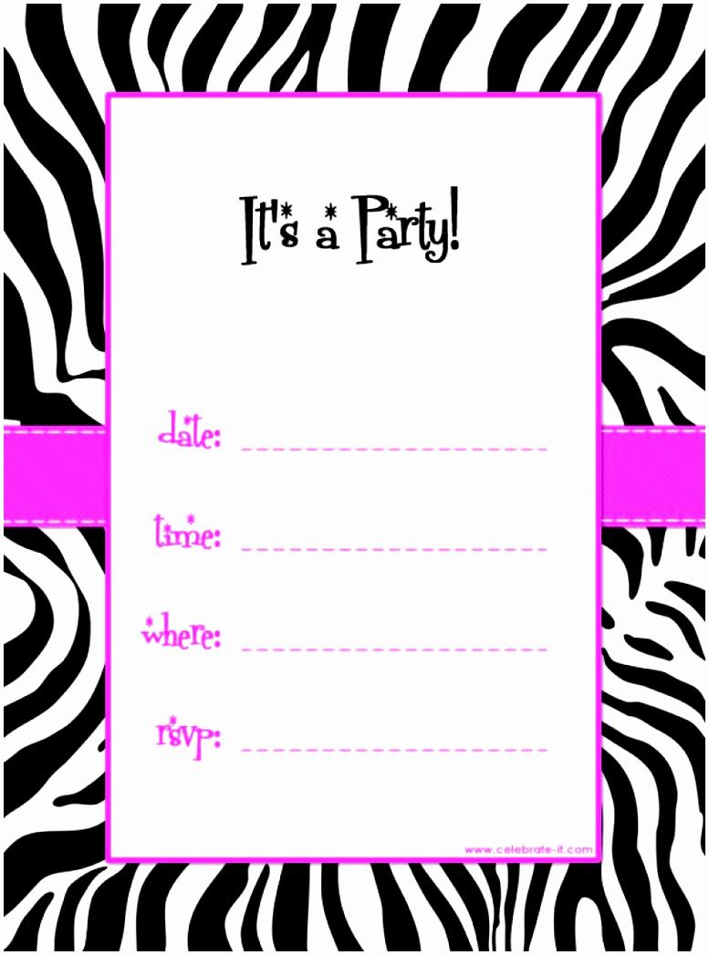 Free Printable Birthday Invitation Templates Best Of 5 Free Party Invitations Templates to Print Auiwu