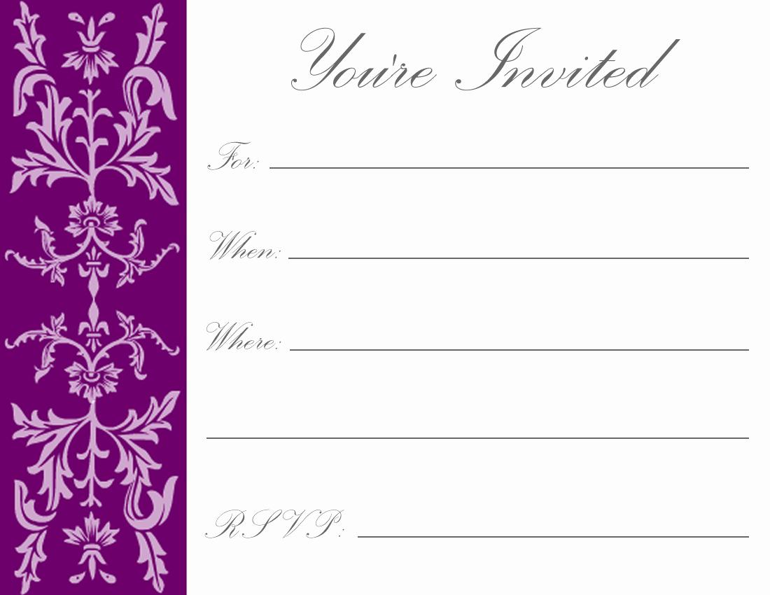 Free Printable Birthday Invitation Templates Best Of Printable Birthday Invitations