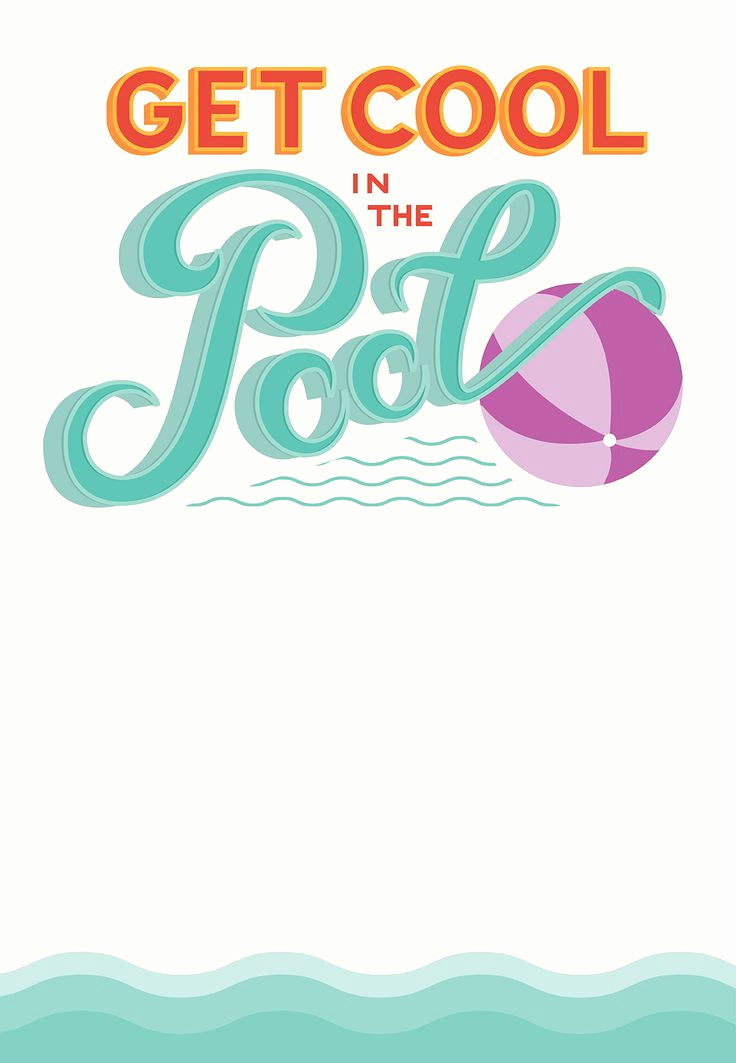 Free Printable Birthday Invitation Templates Lovely Pool Party Free Printable Party Invitation Template