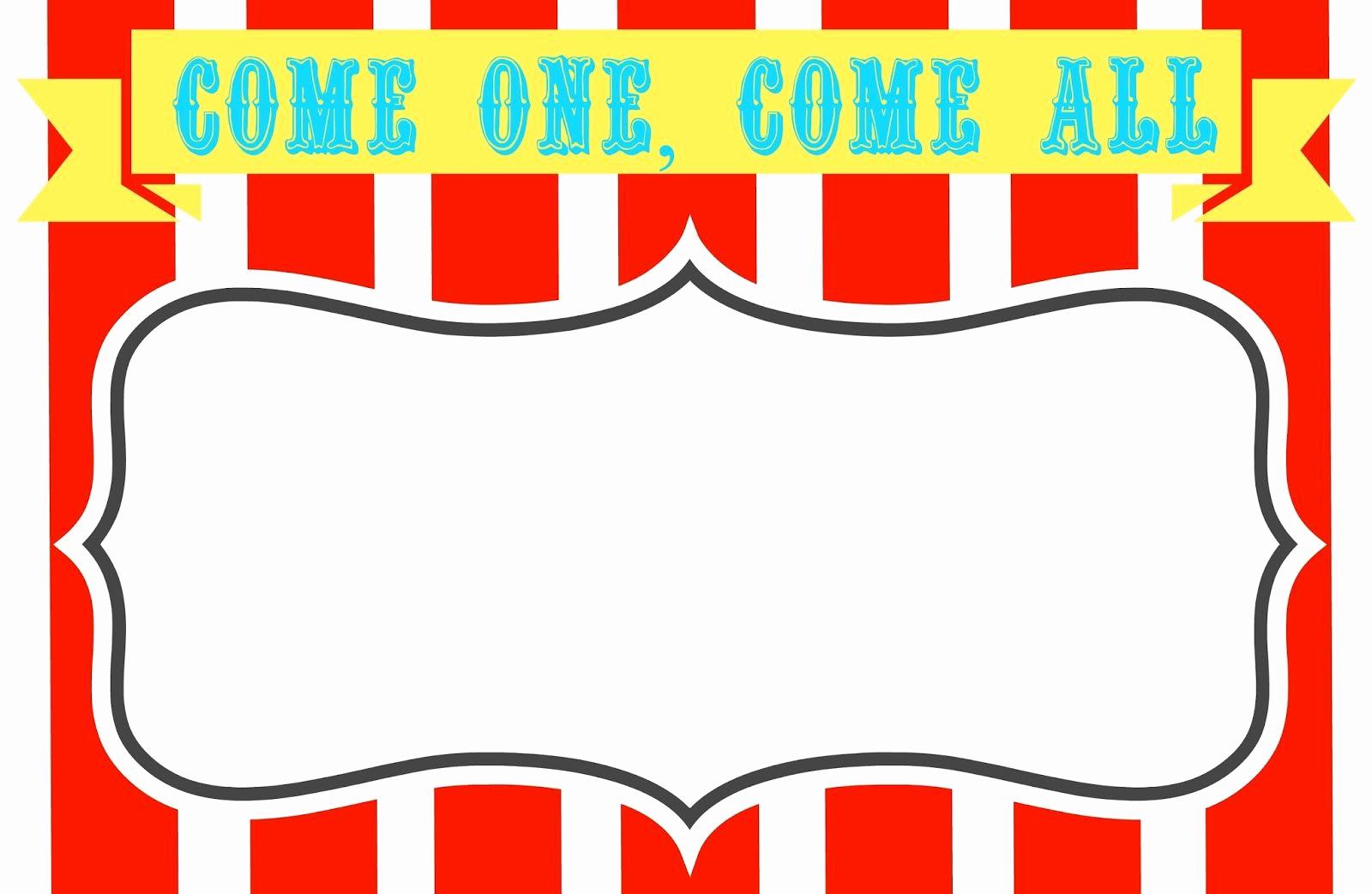 Free Printable Carnival Invitation Templates Beautiful Free Printable Carnival themed Invitations