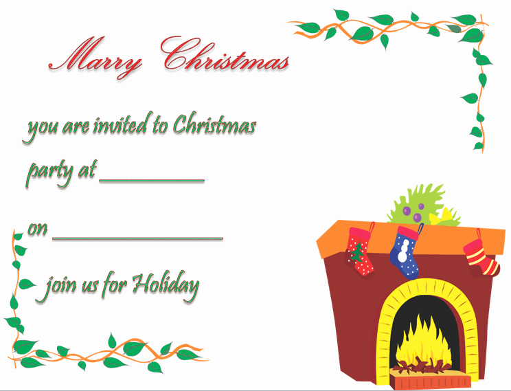 Free Printable Christmas Invitation Templates Awesome Christmas Party Invitation Template Free & Printable