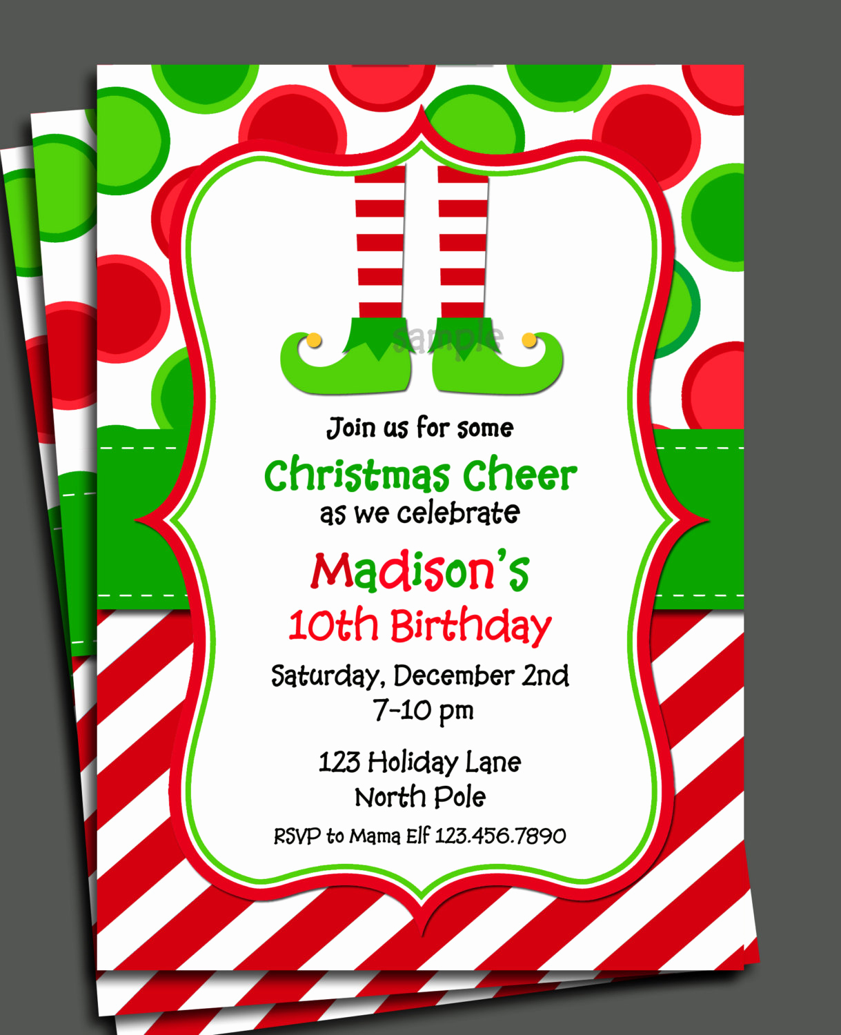 Free Printable Christmas Invitation Templates Best Of Christmas Elf Invitation Printable Christmas Birthday