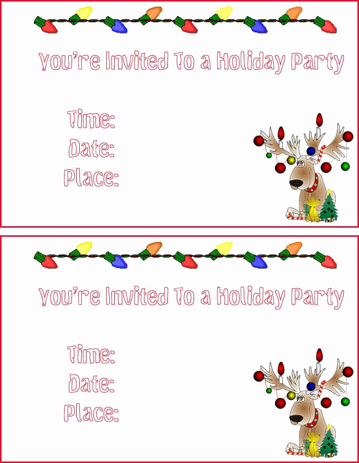 Free Printable Christmas Invitation Templates Elegant Christmas Party Invites Templates Free Printable Christmas