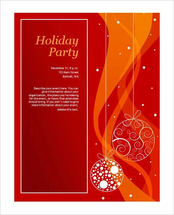 Free Printable Christmas Invitation Templates Inspirational 69 Microsoft Invitation Templates Word