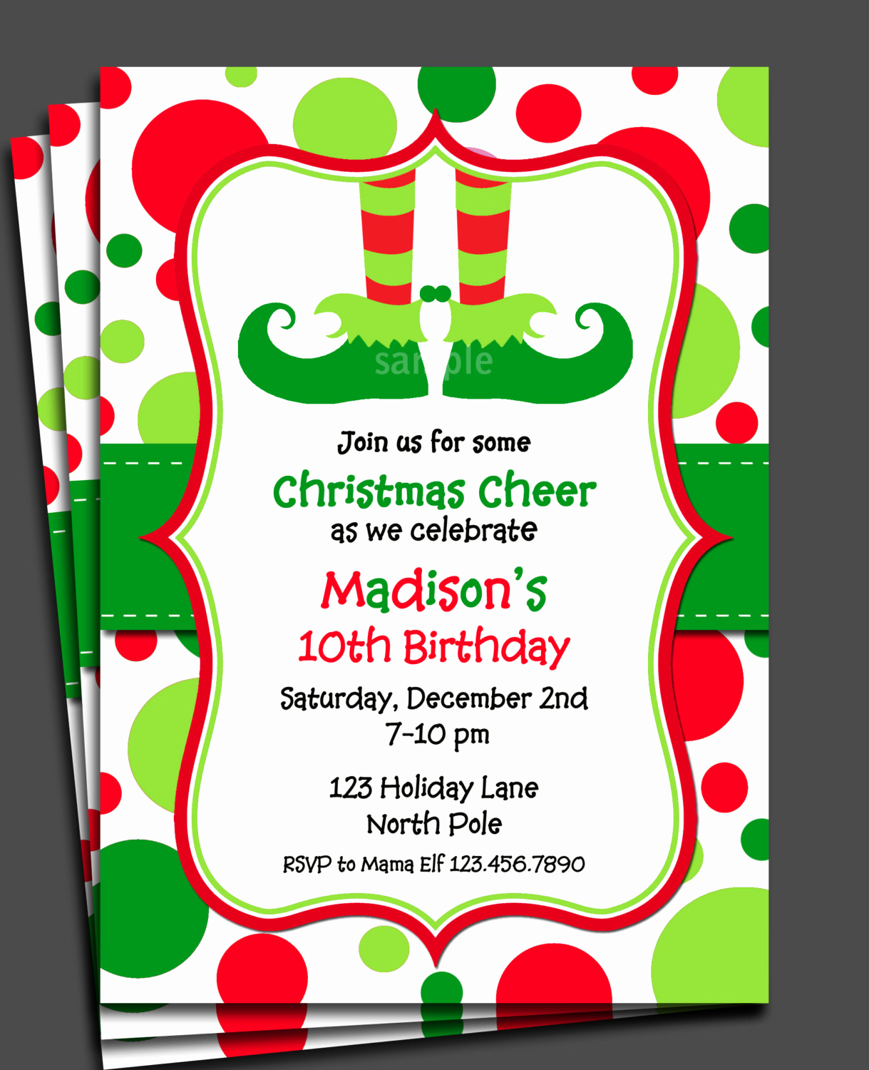 Free Printable Christmas Invitation Templates Inspirational Christmas Elf Invitation Printable or Printed with Free