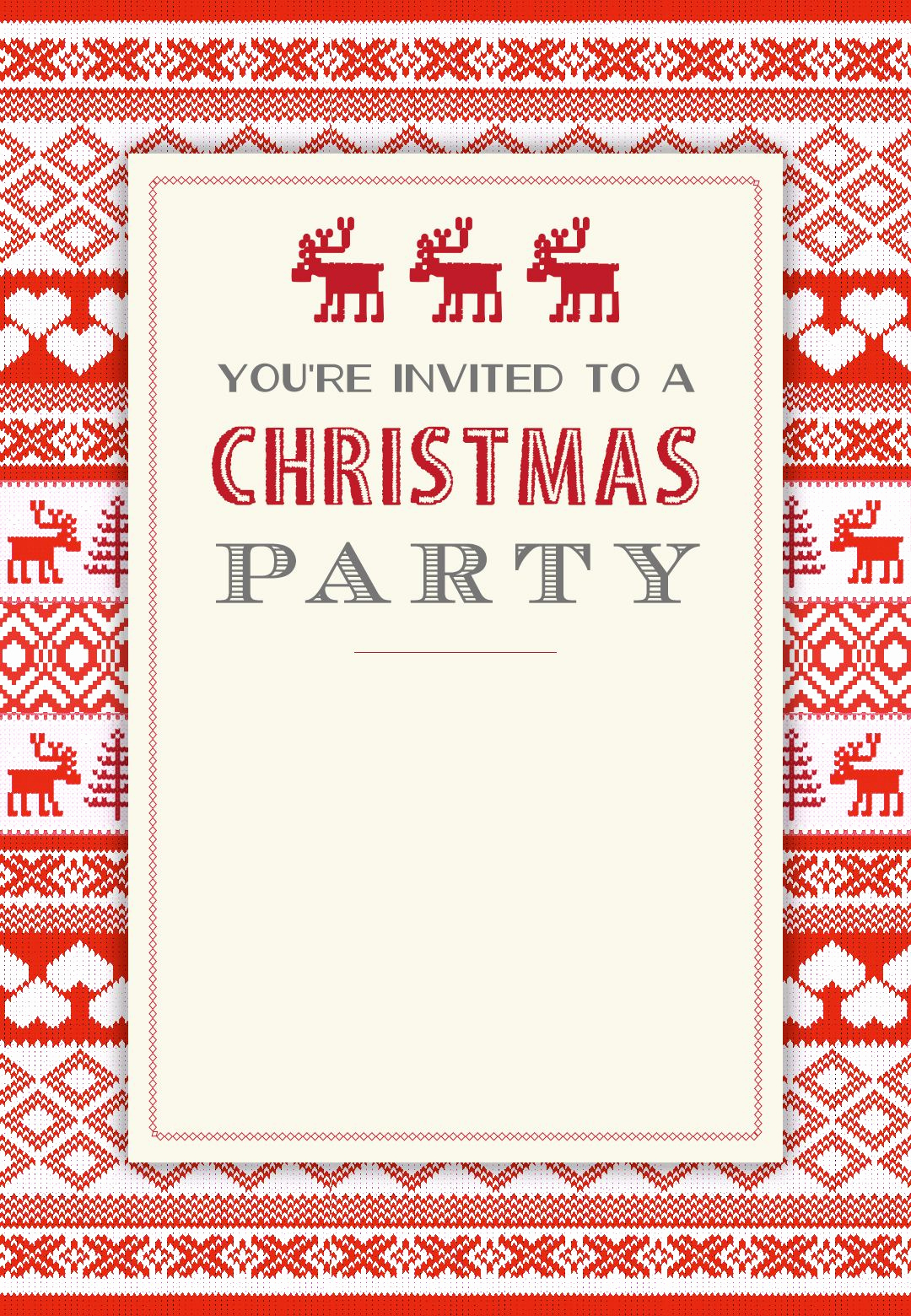 Free Printable Christmas Invitation Templates Inspirational Sweaters Pattern Free Printable Christmas Invitation