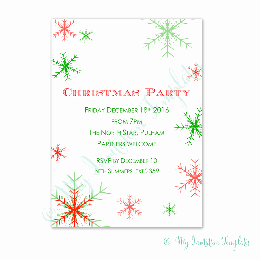 Free Printable Christmas Invitation Templates Lovely Christmas Invitations Template – Best Party Ideas