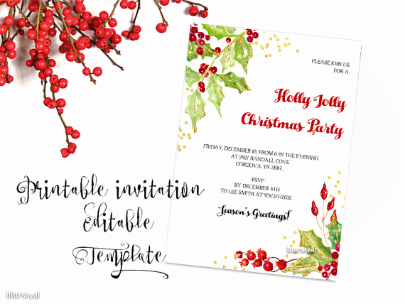 Free Printable Christmas Invitation Templates New Sweet Etsy Invitations Bundles and Much More