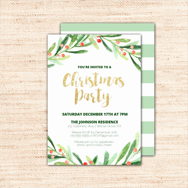 Free Printable Christmas Invitation Templates Unique 31 Christmas Party Invitation Templates Psd Ai Word